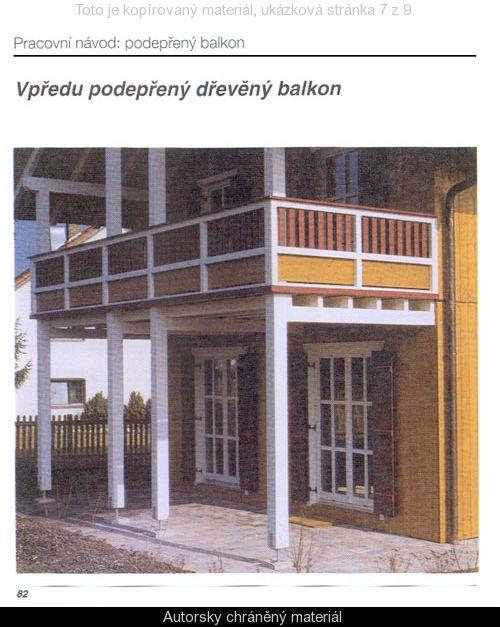 Podepřený balkon